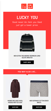 Cross sell up-sell email