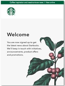 Velkomst email